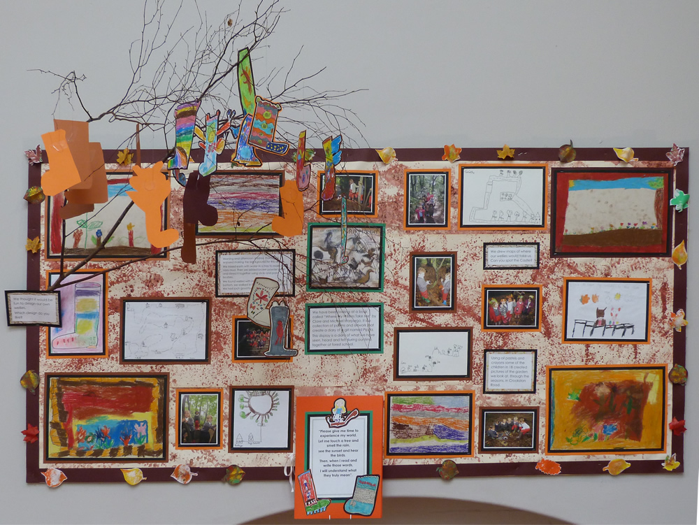 Click on the link above to see more of our Forest School display.