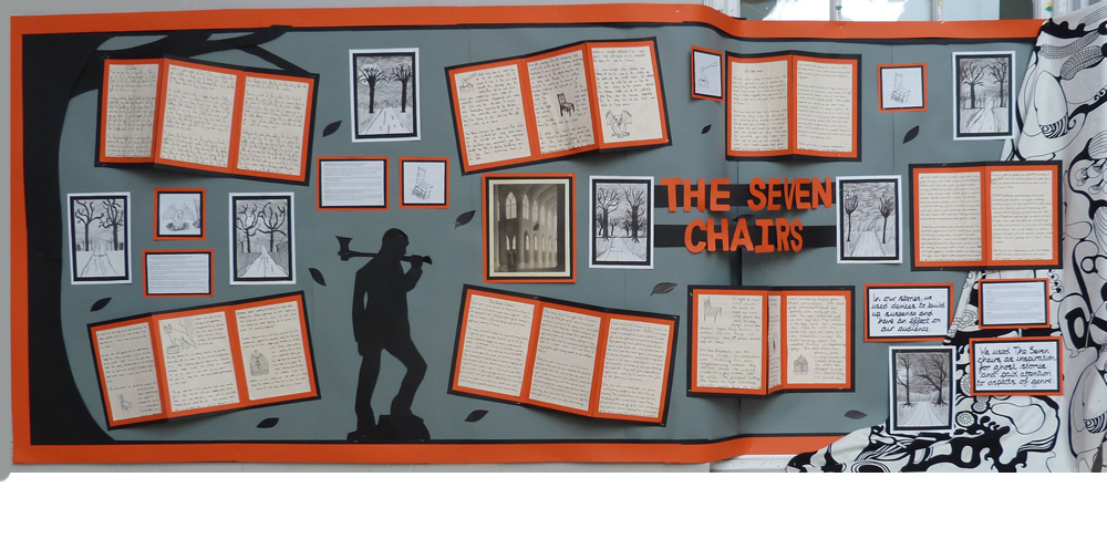 Ghost stories created by Year 5 after studying 'The Seven Chairs' in The Mysteries of Harris Burdick.