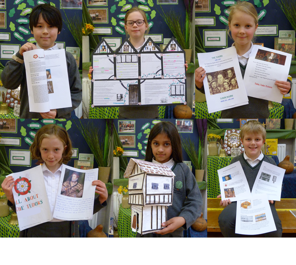 We researched Tudors at home.
