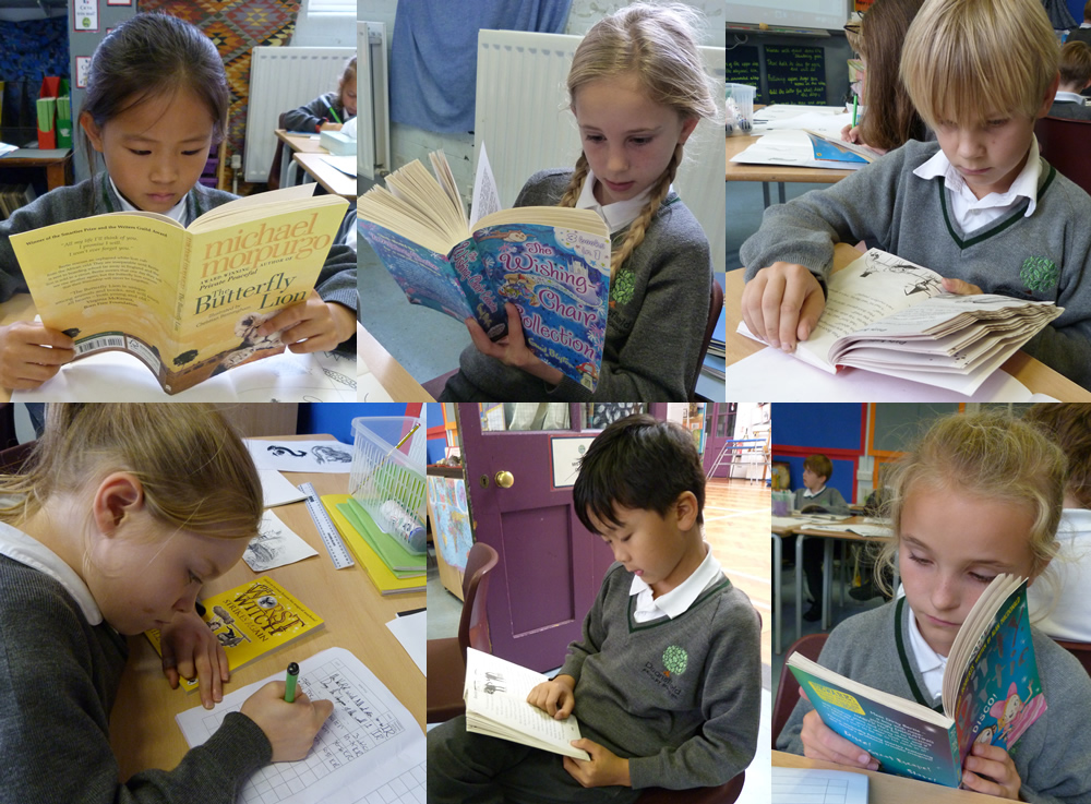 Time to enjoy some books. We keep a reading record of books we've read.