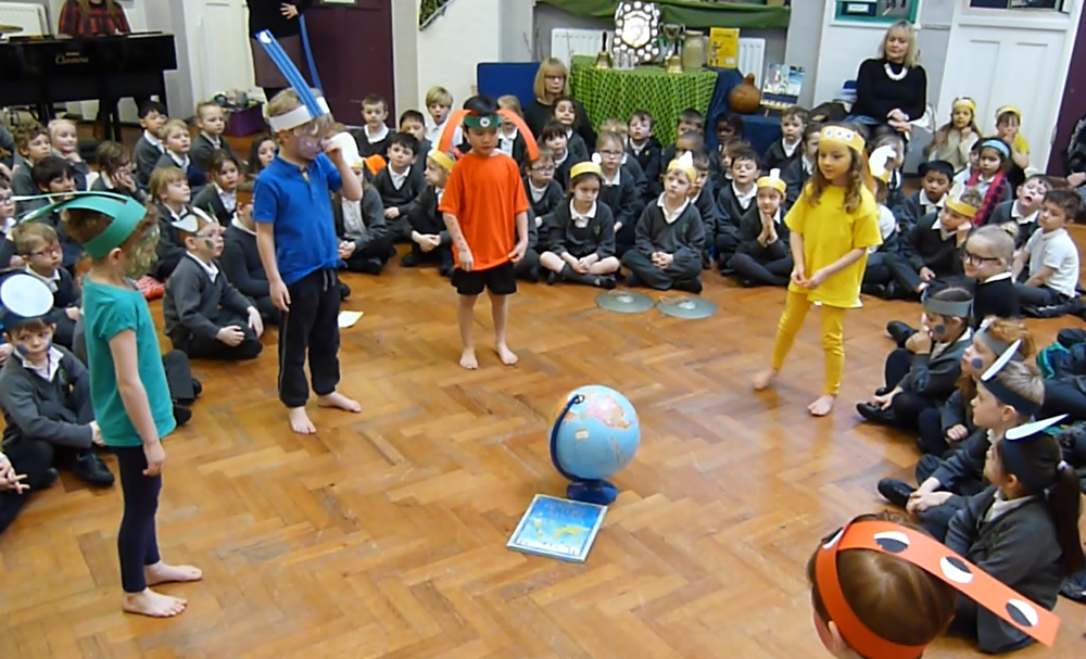 Our assembly was about an alien called Beegu who visited Earth. Click on the newslink to see more.