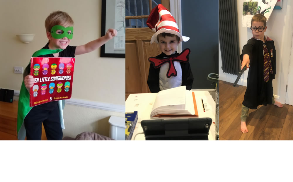 Well done for dressing up and sending a photo of your World Book Day costumes!