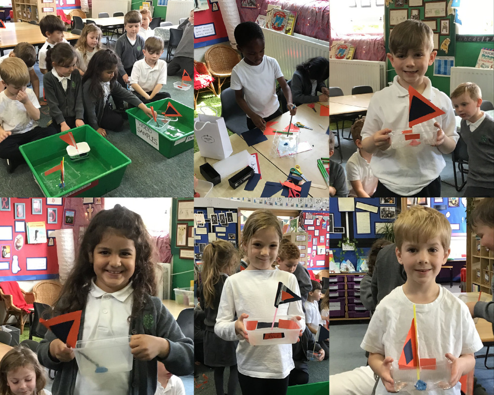 Making and testing rescue boats.