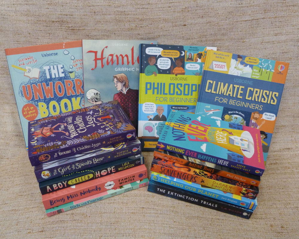 We have some fantastic new books for our class, bought with money from the Book Week sponsored read. Thank you!