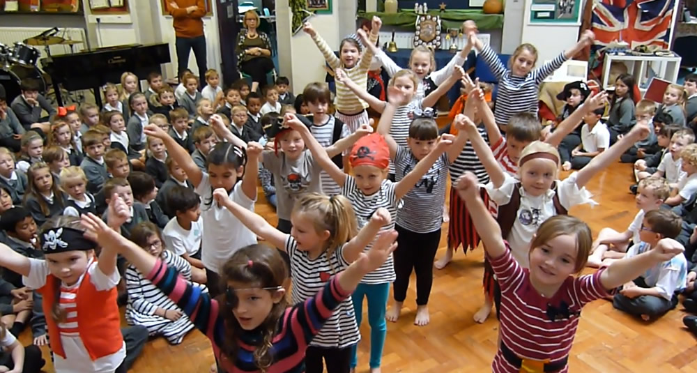 Yo ho ho - it's our Pirate assembly. Click on the news link to see more.