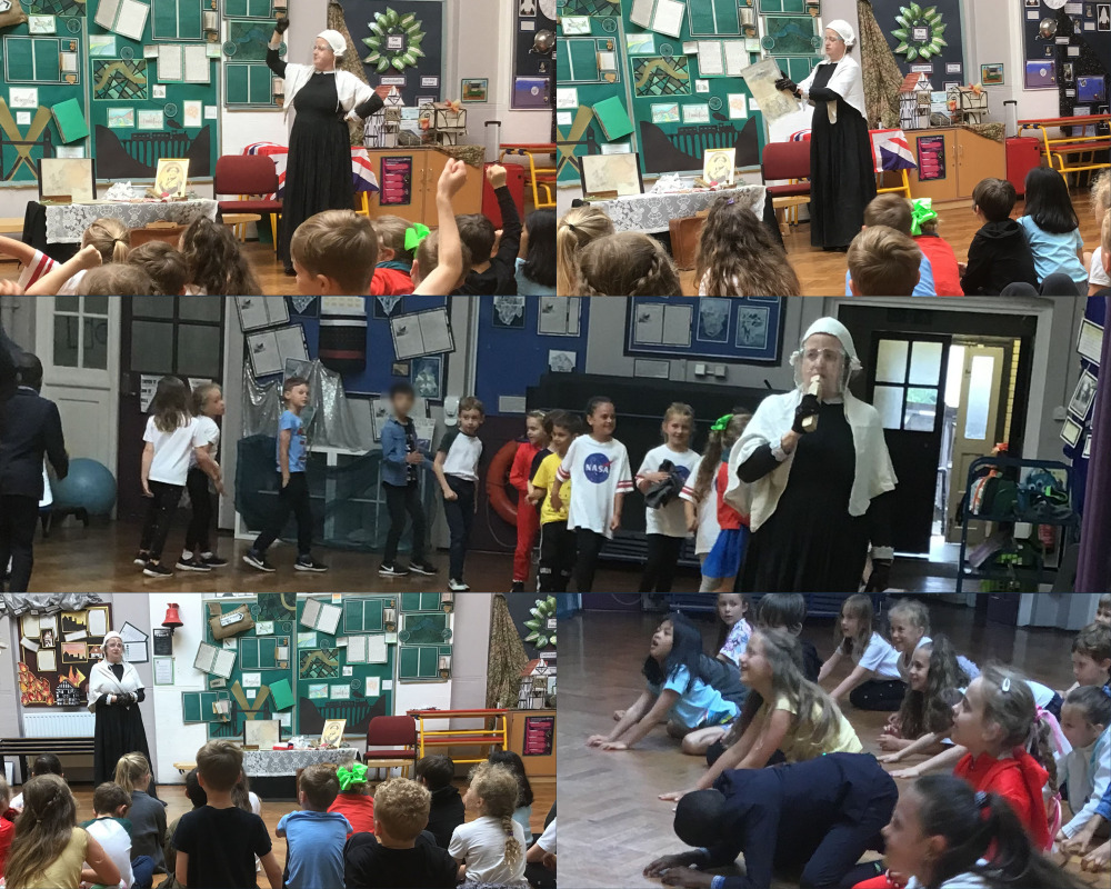 A visit from Florence Nightingale. We joined in with the journey to Scutari and with scrubbing the hospital floors!