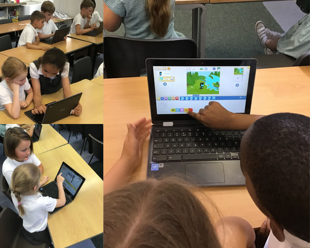Coding with Scratch.