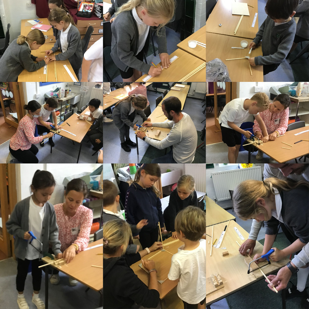 Year 2 joined together for a DT project.