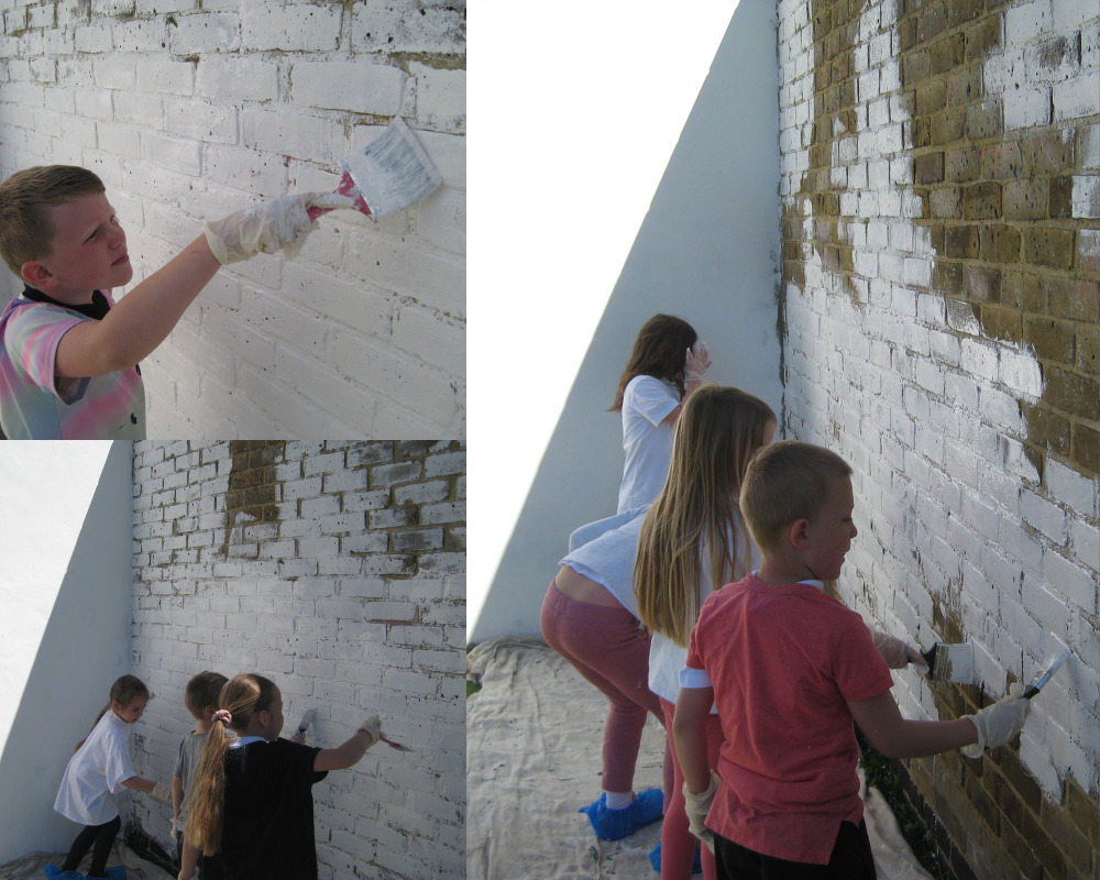 """""""We're painting the mural white!"""""""