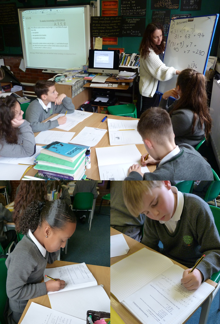 Investigating how the order of operations in maths affects the answers.