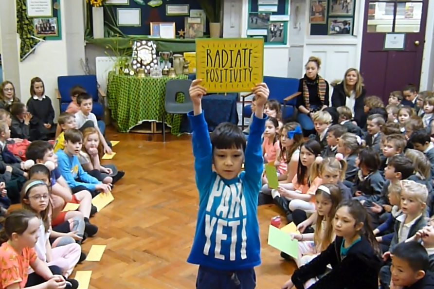 Our class assembly was about using positive words. Click on the news link to see more.