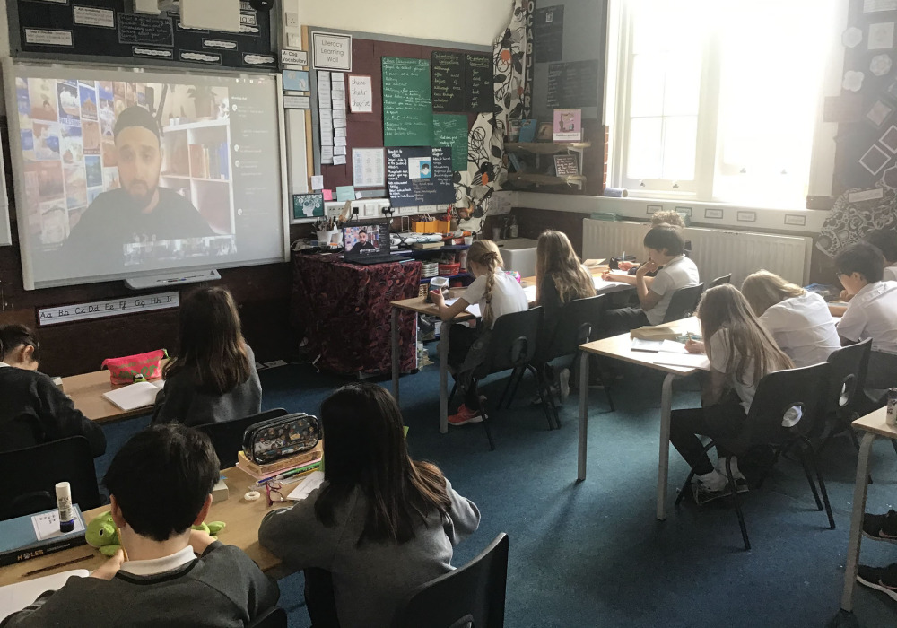 We had a virtual poetry workshop with Zohab Zee Khan.