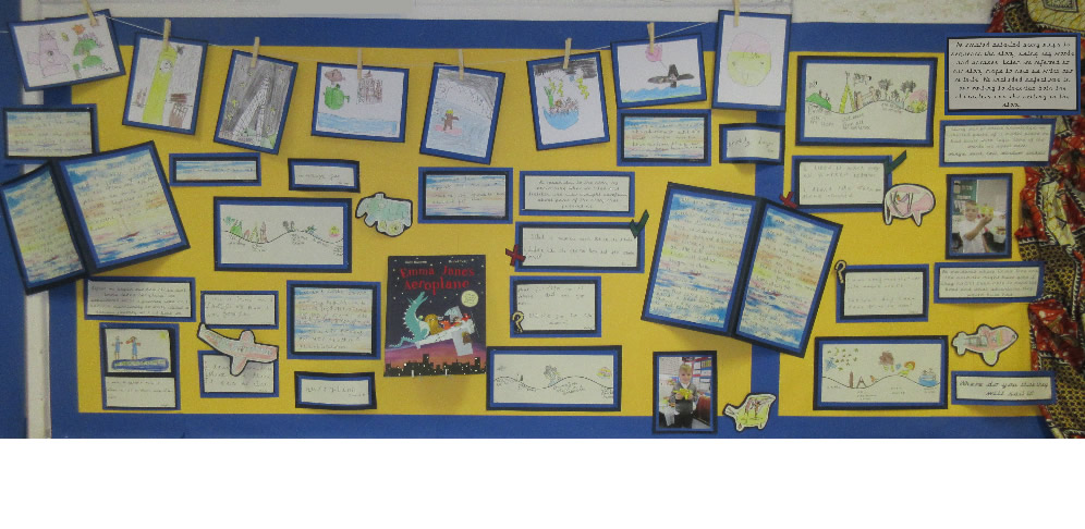 Our Emma Jane's Aeroplane display is finished!