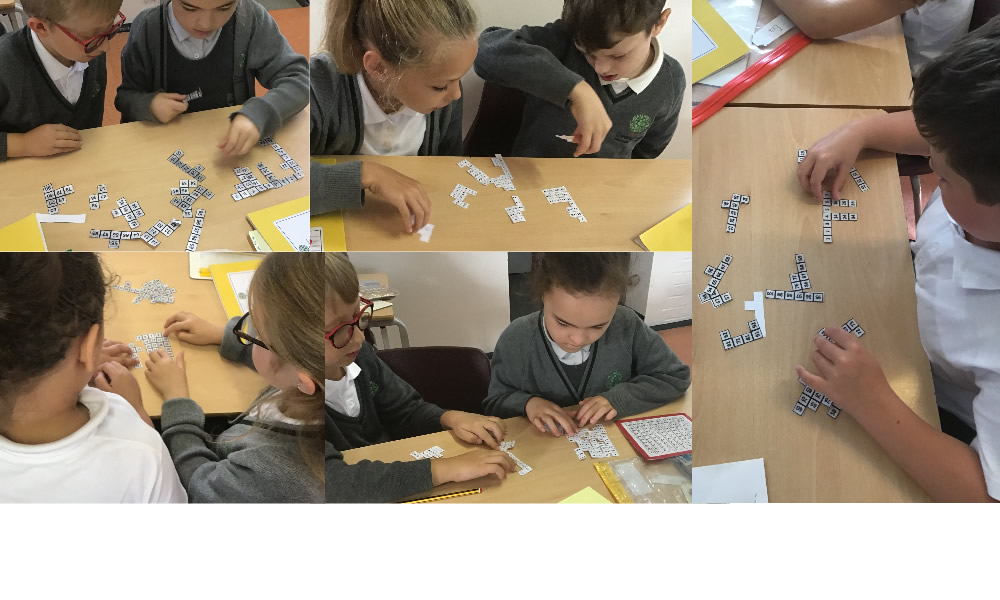 Puzzling out the pieces of our maths investigation.