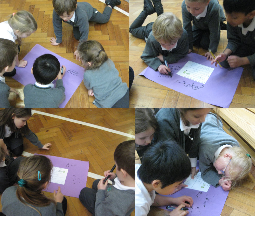 Pooling ideas to solve maths problems.