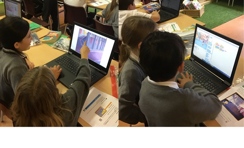 Creating a computer game using Scratch. Can Felix the cat catch Herbert the mouse?