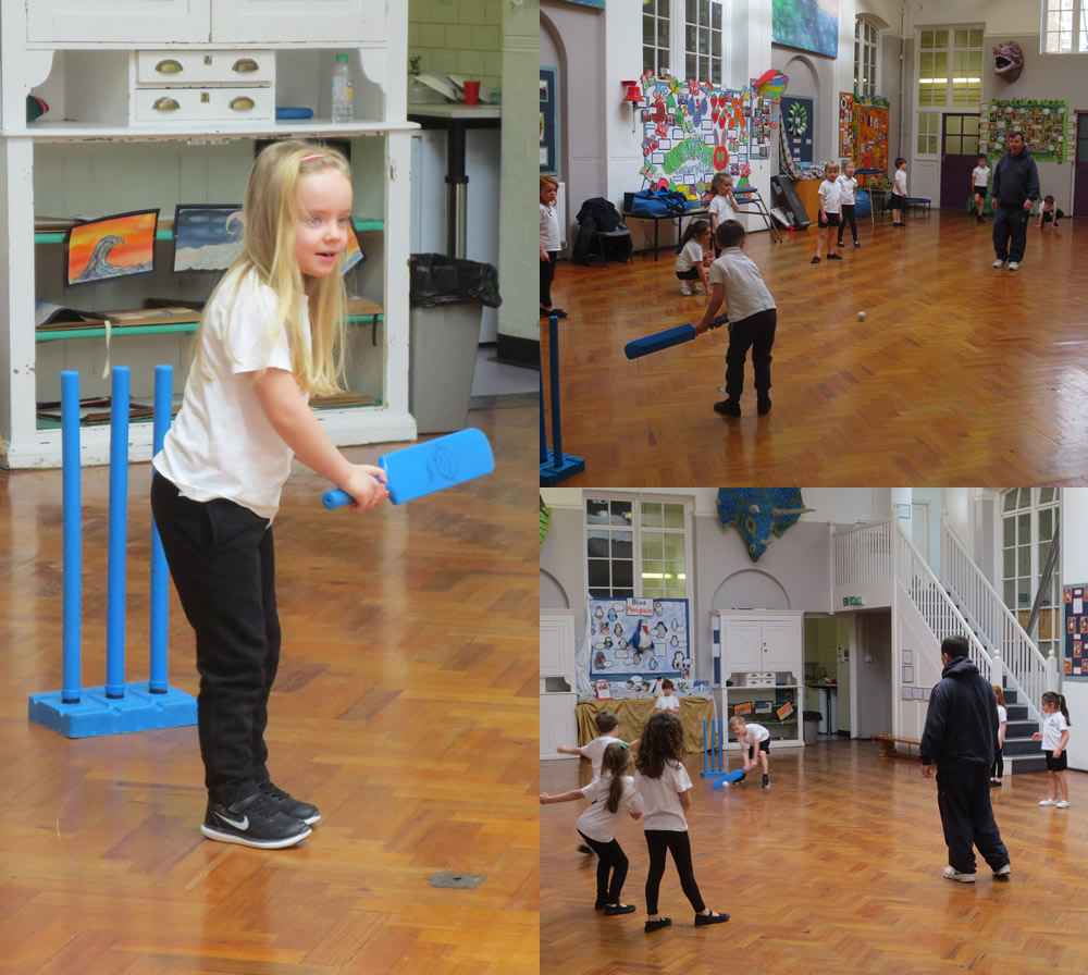 Enjoying our cricket session.