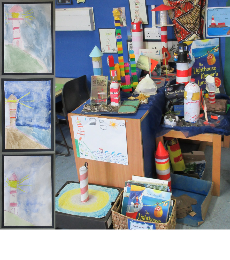 We have had great fun making lighthouse models and painting lighthouses.