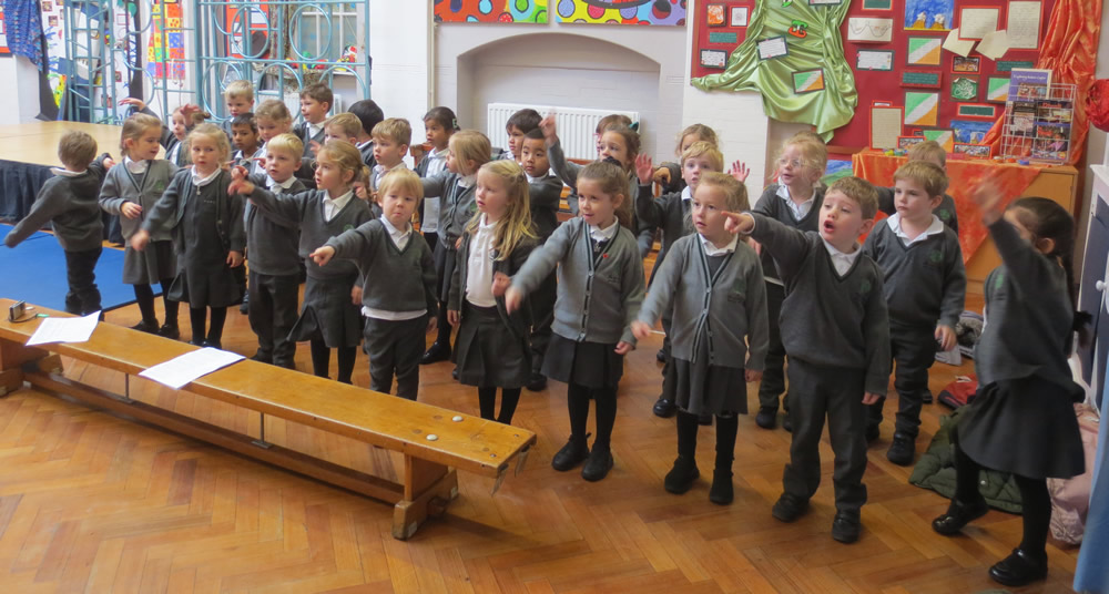 We're practising hard for our Christmas production.