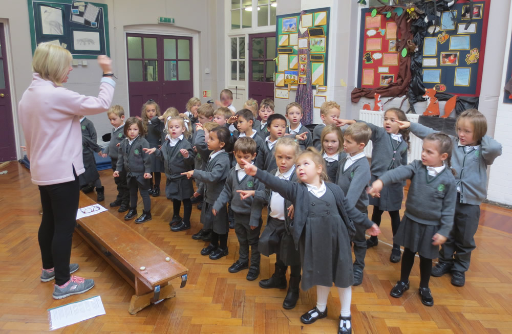 We're looking forward to our Christmas production. We're working hard on learning our songs.