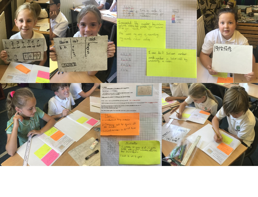 We worked out strategies for our maths investigation.