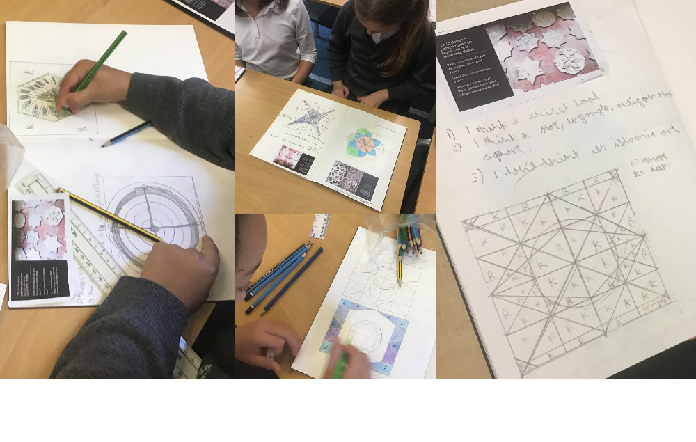 Planning designs for Islamic tiles.
