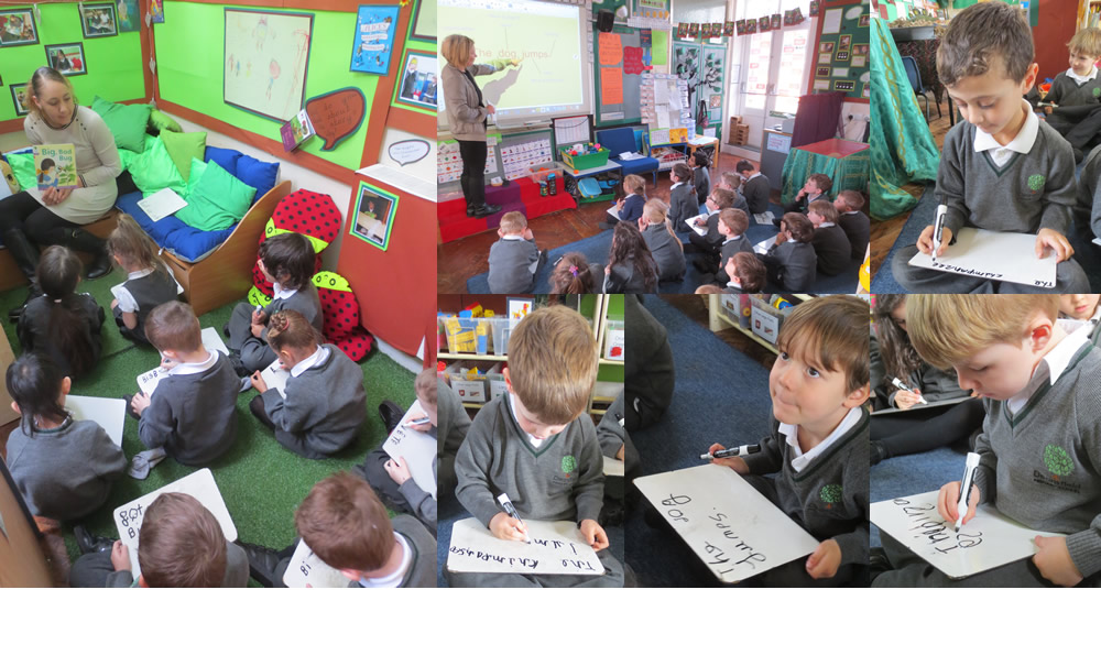 We are writing sentences.