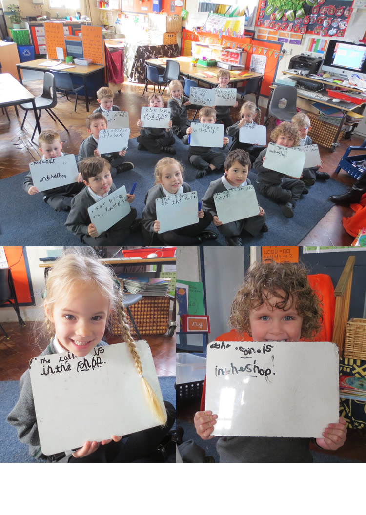 We have been writing a sentence.