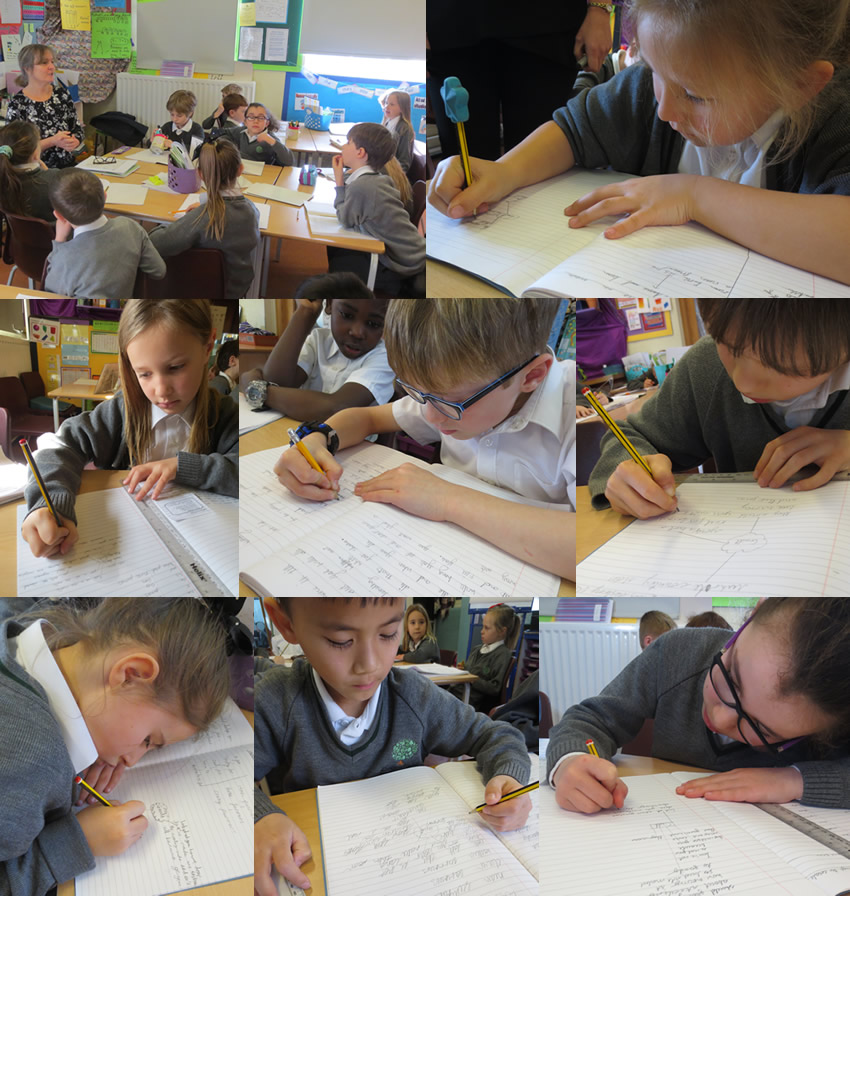 Creating mind maps of emotive language to convey guilt in story of Fantastic Mr Fox.
