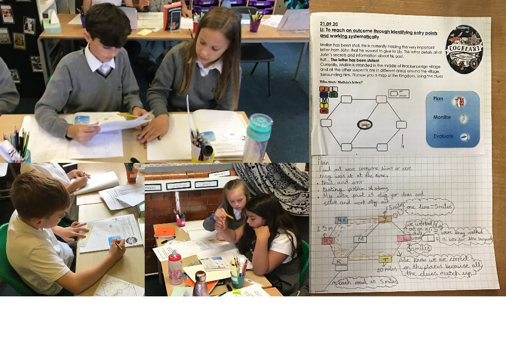 Who stole Malkin's letter? 6P are loving reading Cogheart so much they're completing maths tasks on the book too!