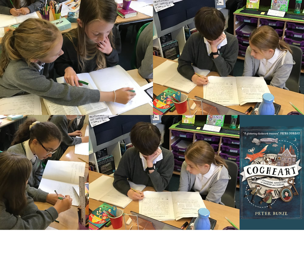<span>6P editing and improving each other's newspaper articles. Writing for The Daily Cog is tough work but we are enjoying critiquing our use of journalistic language.</span>