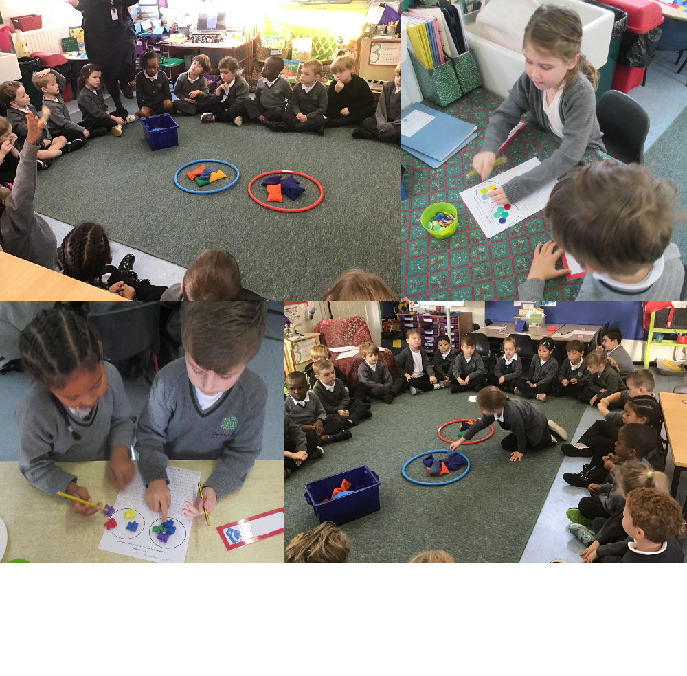Working together on halving numbers.
