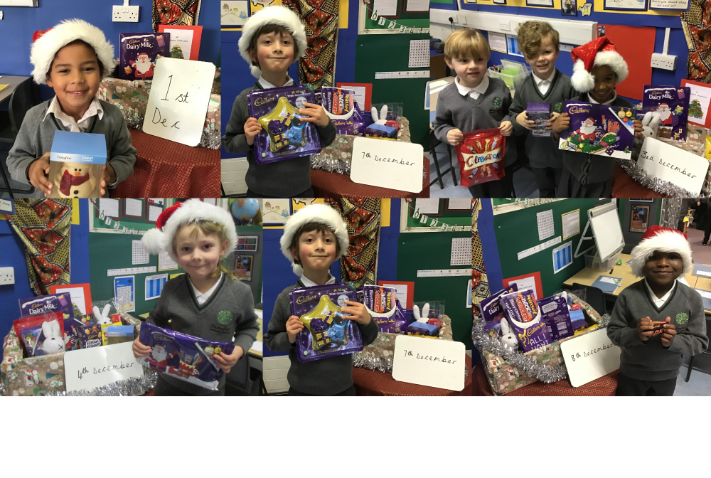 WE have been collecting for the food bank with our reverse advent calendar.