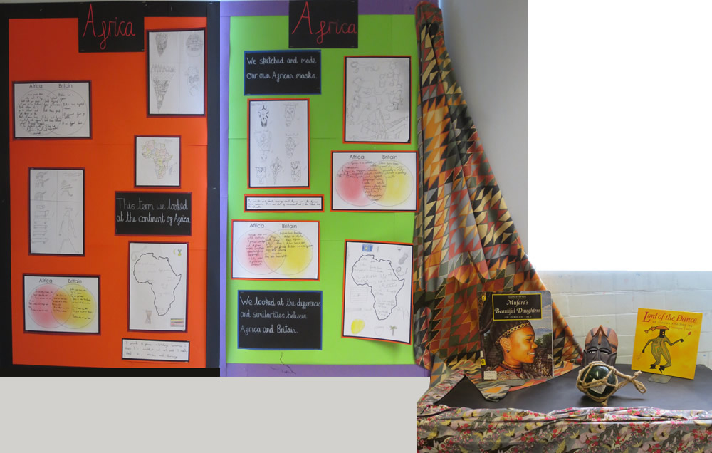 Our Africa display.