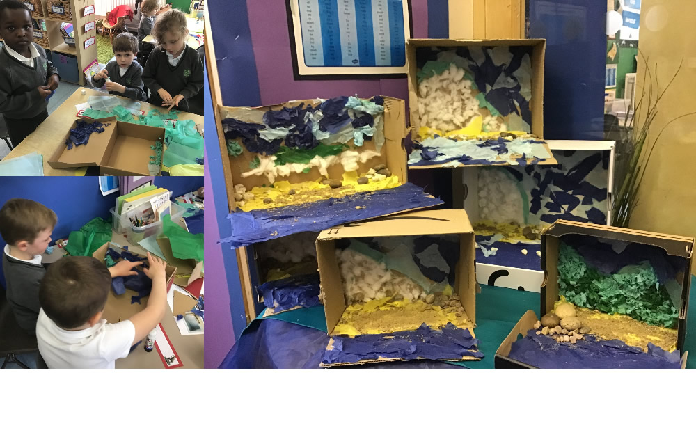 We have been learning about geographical features of coastal areas.