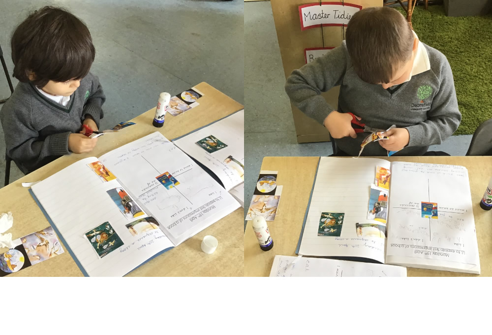 We have started a new book in literacy, The Lighthouse Keeper's Lunch. We have been sequencing the events in the story.
