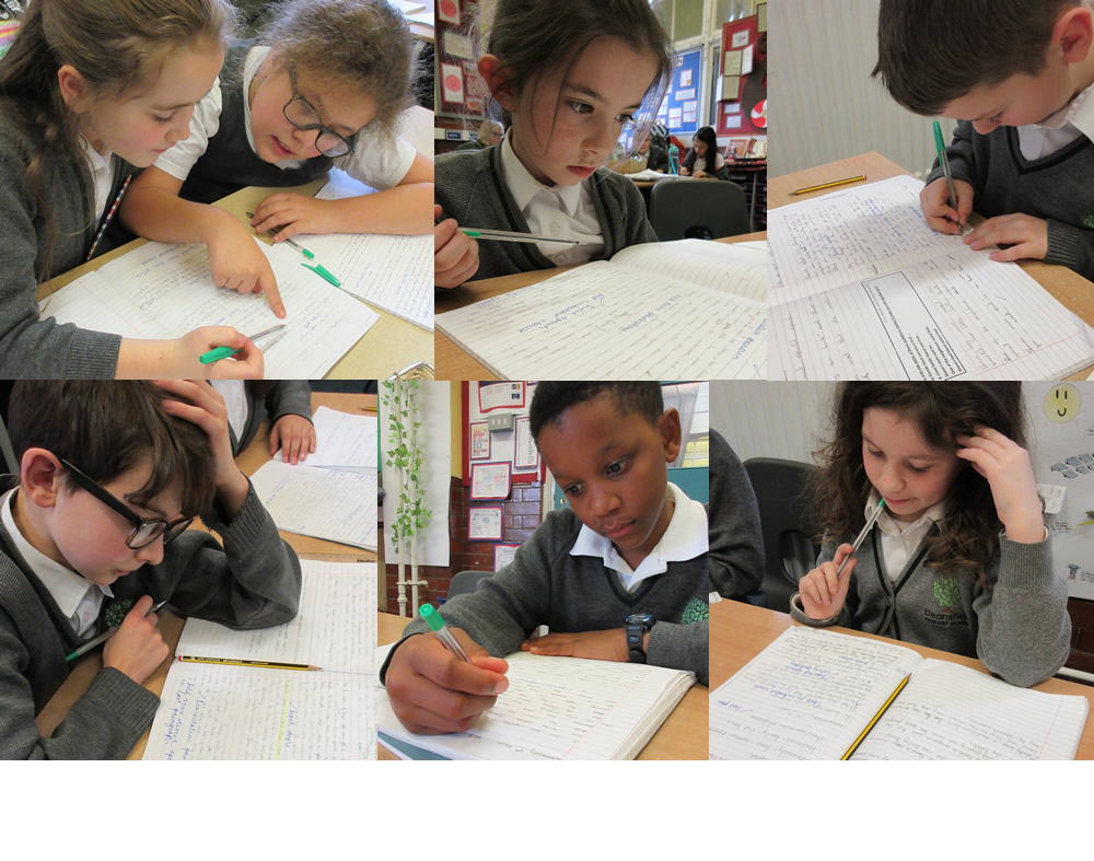 Improving our writing with an editing session.