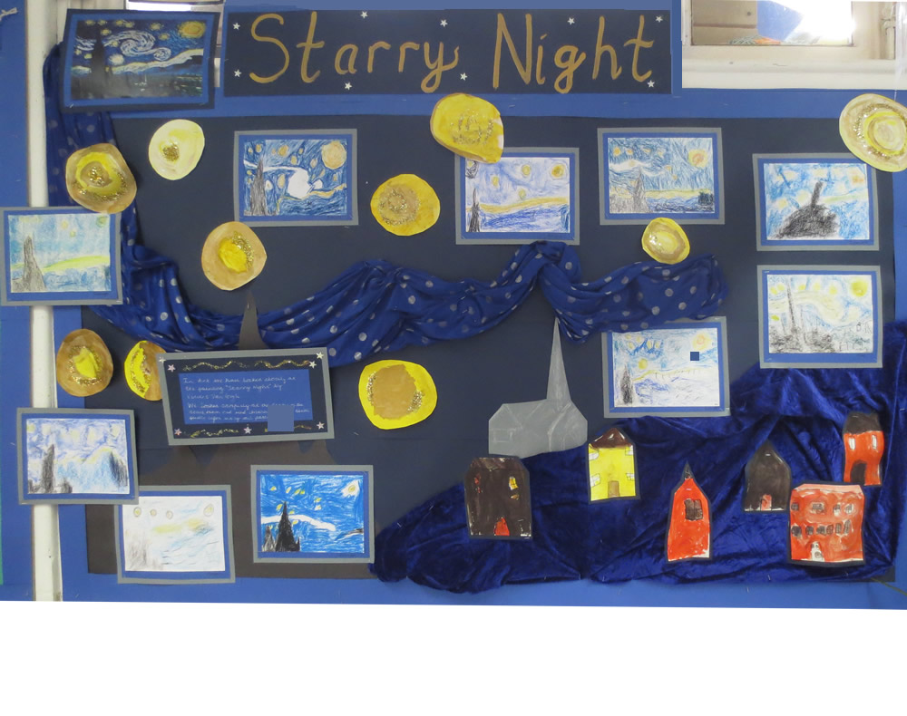 Our Starry Night artwork inspired by the painting of Vincent Van Gogh.