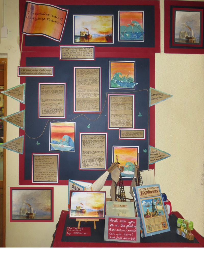 Our classroom Fighting Temeraire display.