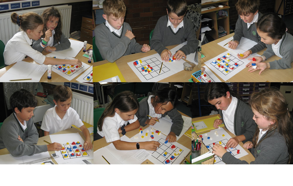 Puzzling out our maths challenge.