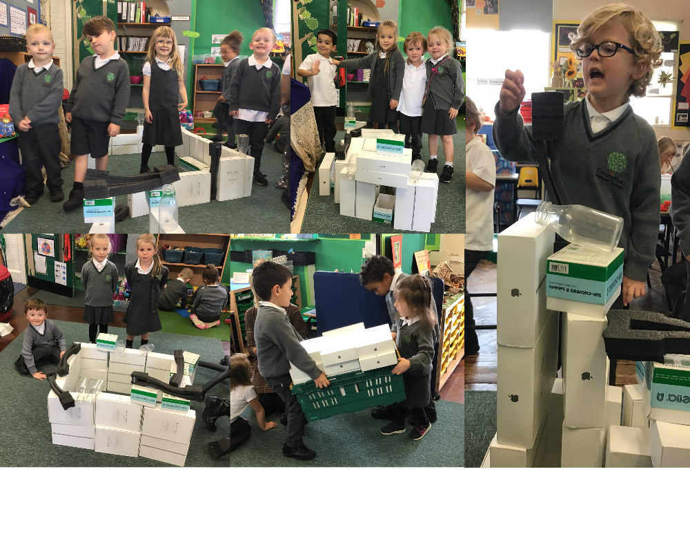 Fun building with boxes!