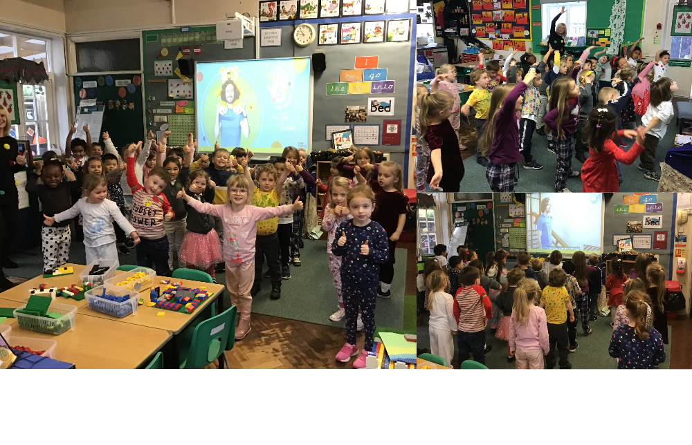 Keeping fit with Joe WIcks on Children in Need Day.