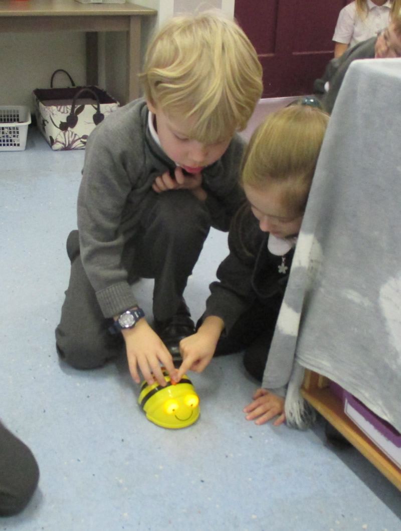 Programming a  Beebot.