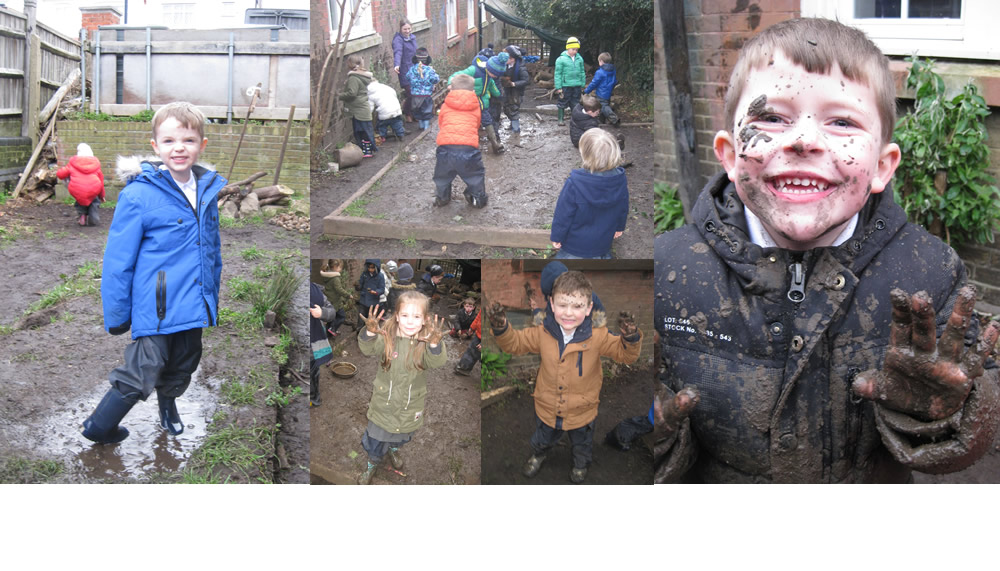 A muddy day at Forest School. What fun!