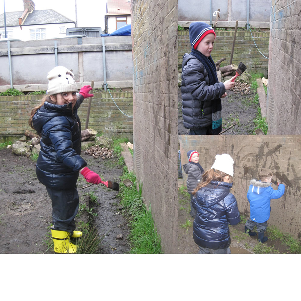 Artists at work.