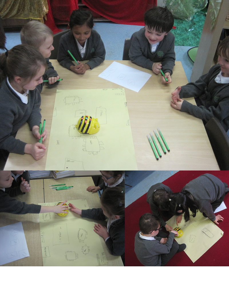 Programming the Beebots ...