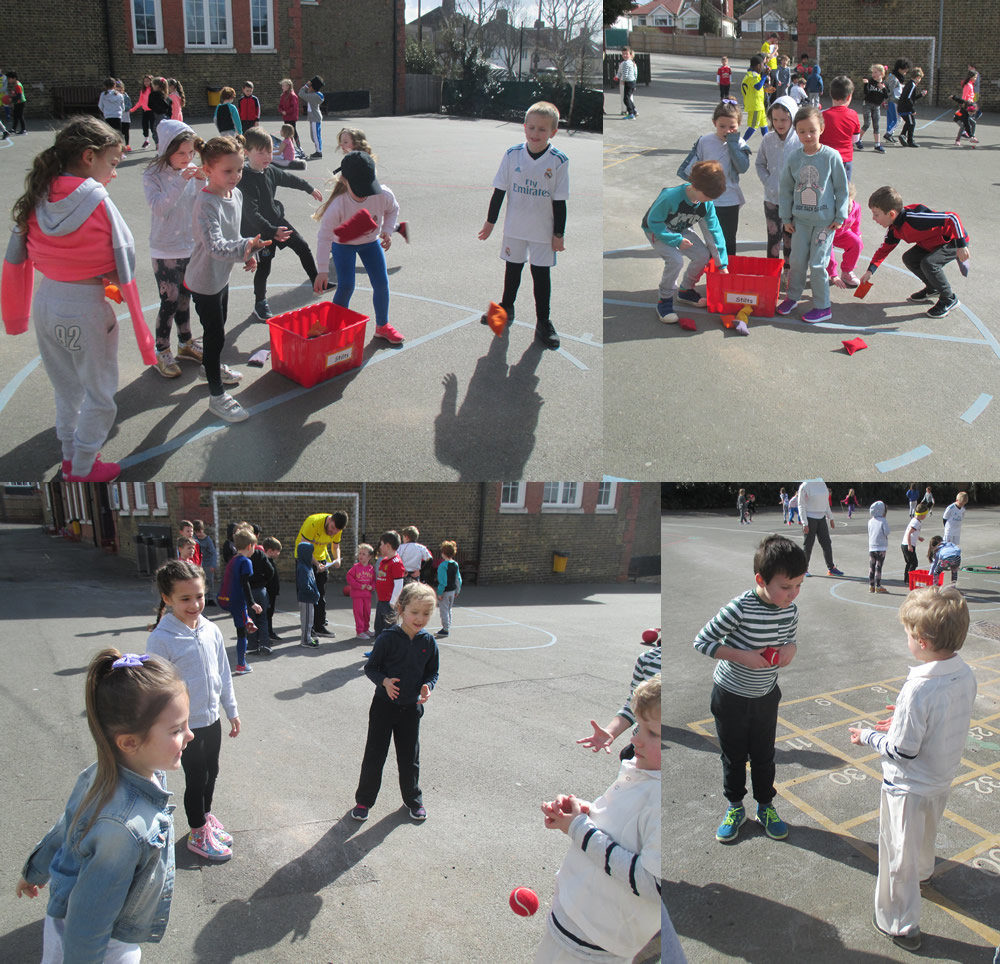 Eager record breakers on Sport Relief Day.