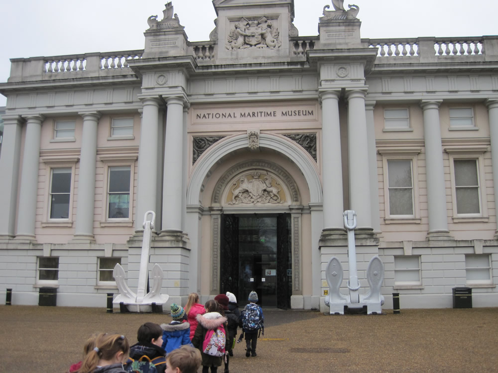 We visited the National Maritime Museum.