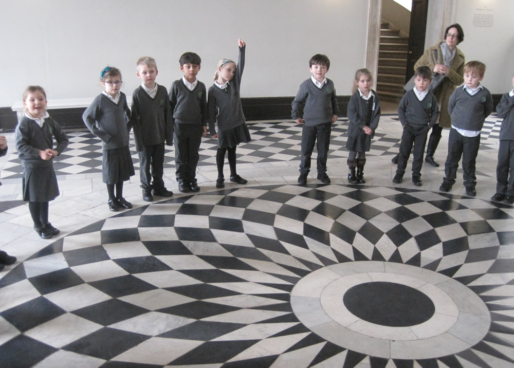 The floor in the Queen's House has an amazing shape pattern.