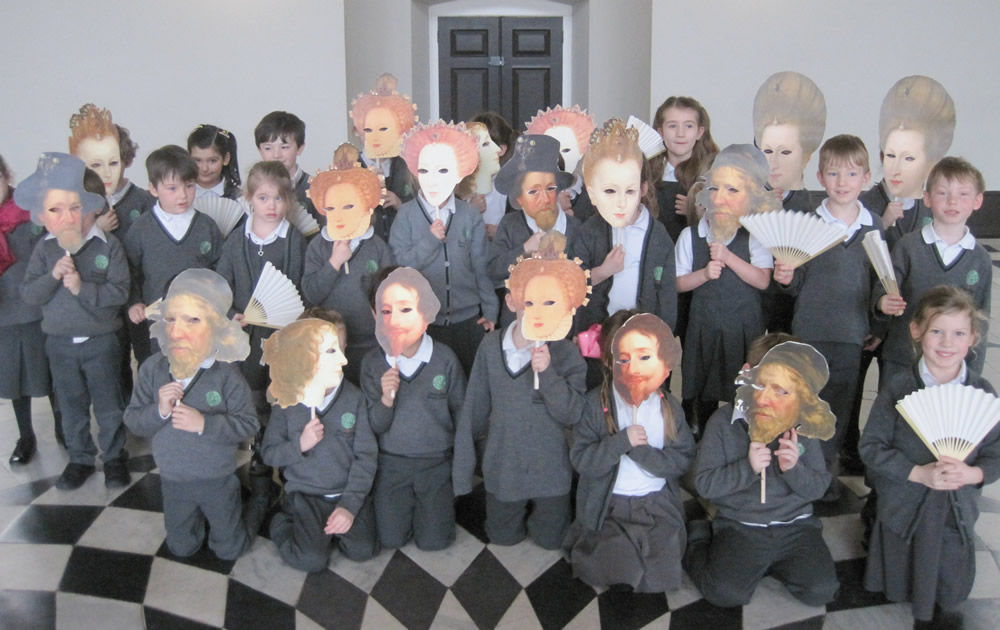 It's hard to tell who we are with the masks over our faces!